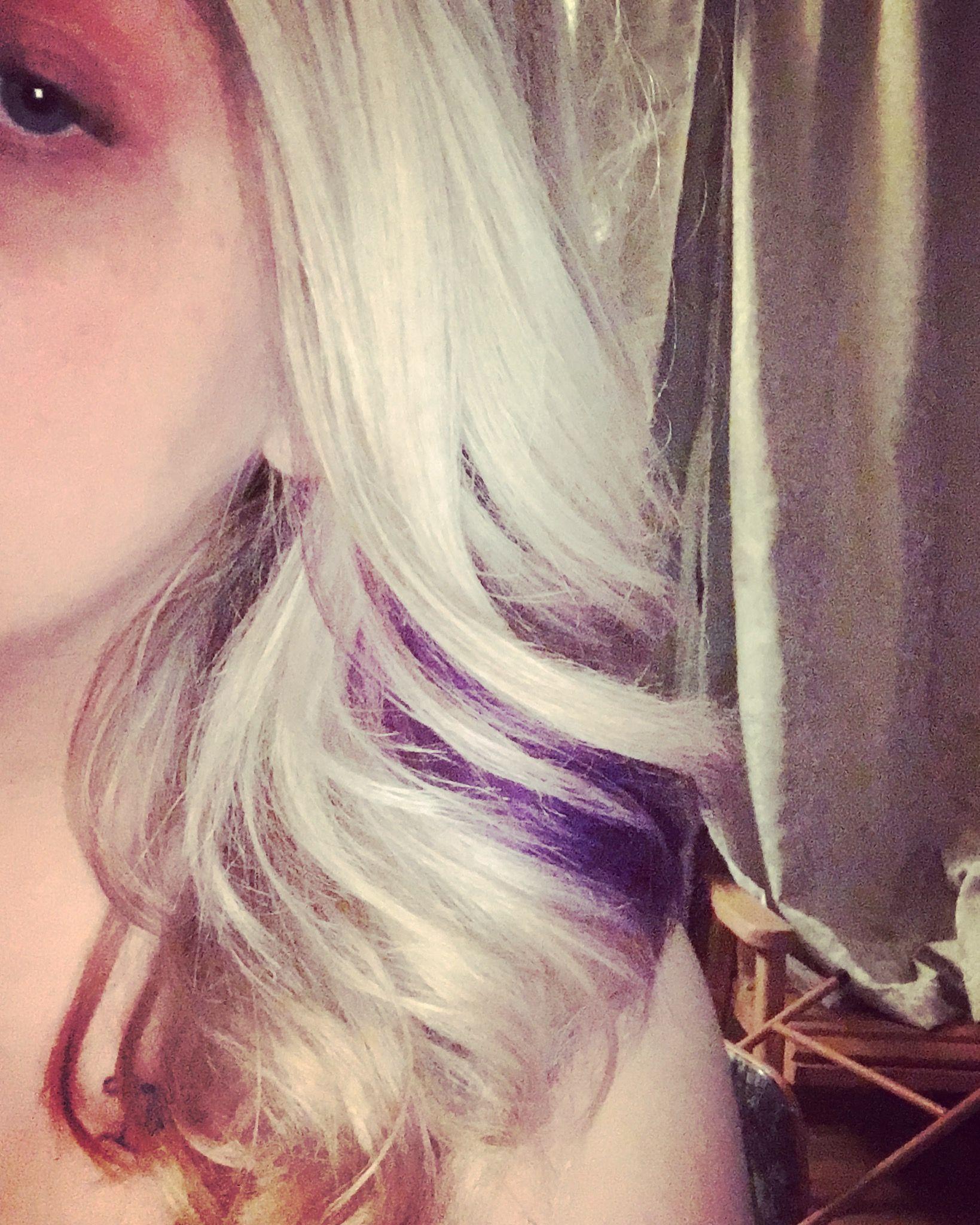 Blonde hair with purple cute hair ideas pinterest blondes
