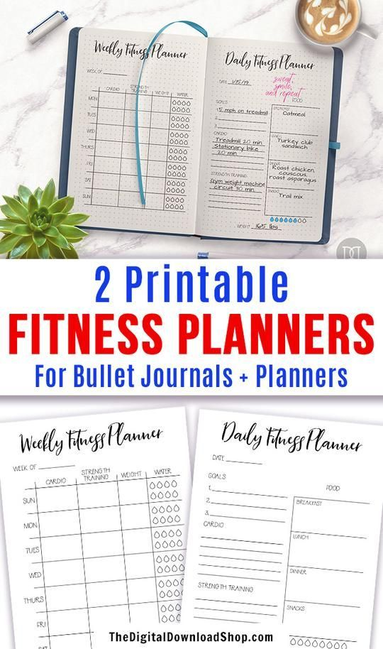 #Fitness #Planner #Printables -   2 fitness planner printables (daily + weekly) for bullet journals...