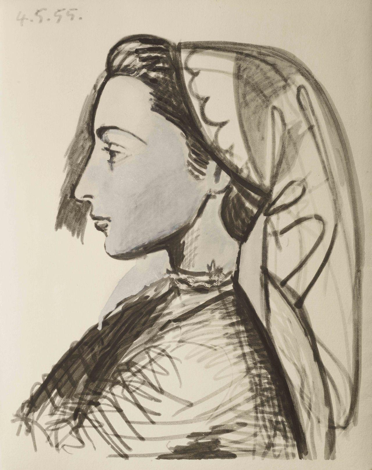 Pablo Picasso (1881-1973) Portrait of Jacqueline, N/D
