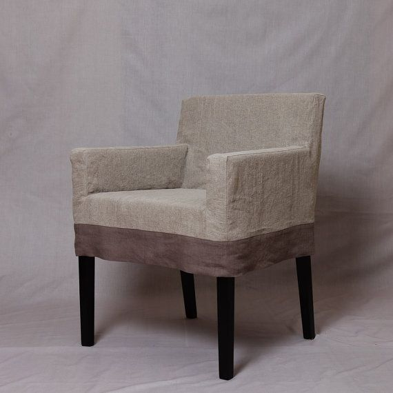Nils Chair Short Slipcover With Contrast By