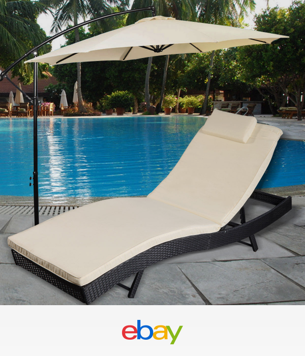 Details About Adjustable Pool Chaise Lounge Chair Outdoor Patio
