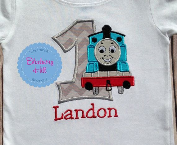 Embroidered Birthday Toddler T Shirt  Thomas The Tank Engine can be personalised