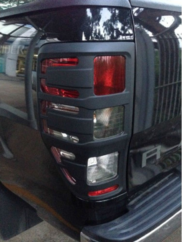 Matte Black Rear Tail Taillight Light Lamp Cover For Ford Ranger Px Wildtrak T6 Vehicle Parts Accessories Car Tuning Styling Body Exterior