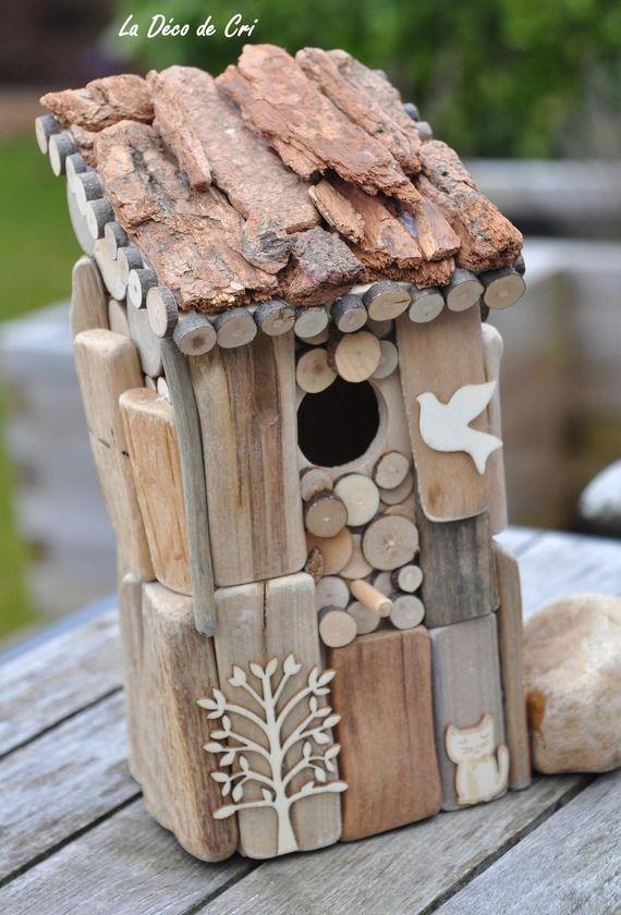 nichoir rustique ma cabane au canada en bois flott. Black Bedroom Furniture Sets. Home Design Ideas