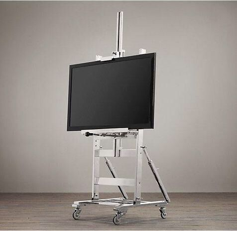 Restoration Hardware Polished Nickel TV Easel On Chairish.com