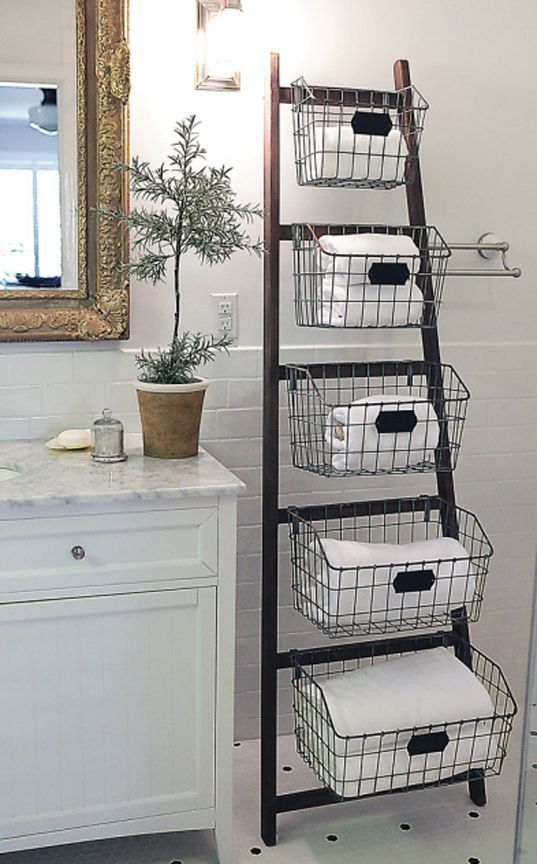 30 Amazingly Awesome Diy Storage Ideas That Will Make Big Impact In Your Home Diy Storage Ladder Wood Ladder Home Diy