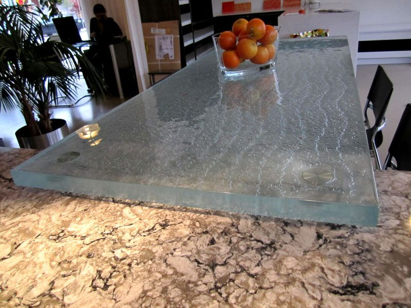 Raised Glass Countertop And Pedestal Rb 20 Glass Countertops
