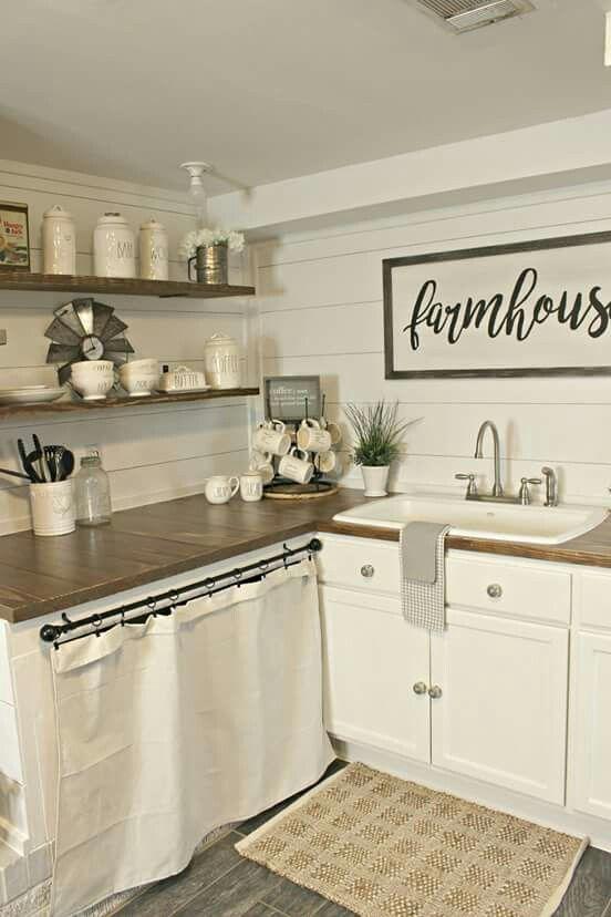 Small Farmhouse Kitchen In 2019 Farmhouse Kitchen