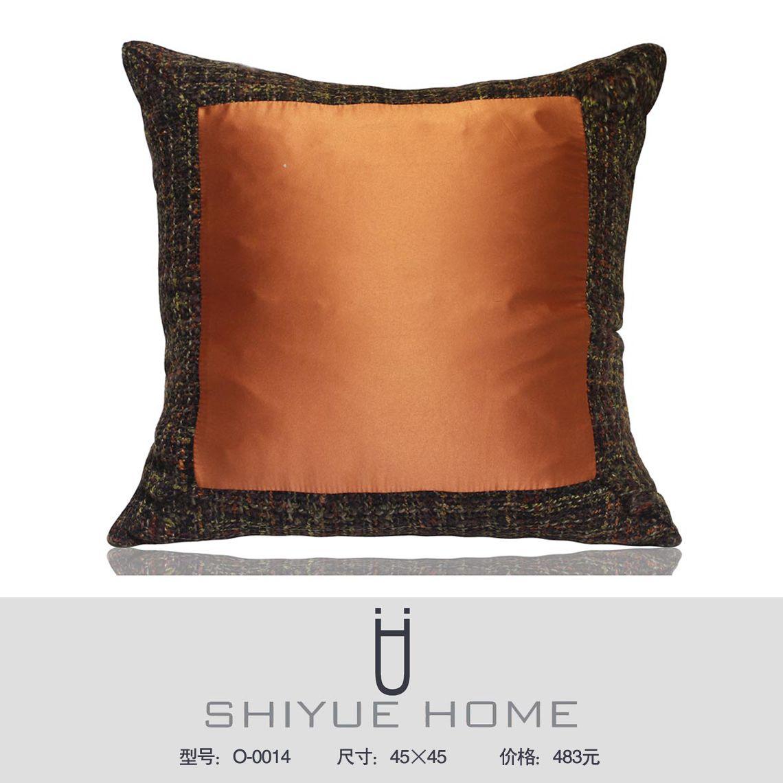 中式抱枕 新中式样板房抱枕靠垫现代简约黑白条纹几何格子抱枕套样板房沙发靠枕 Qq 2853529906