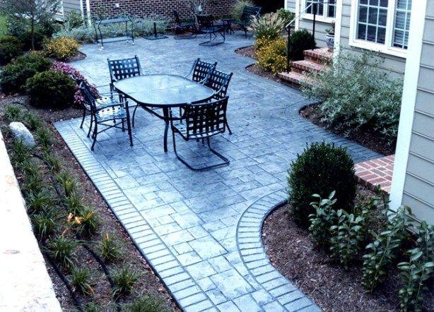 cement patio ideas   Simple Concrete Patio Design Ideas ... on Simple Concrete Patio Designs id=67194