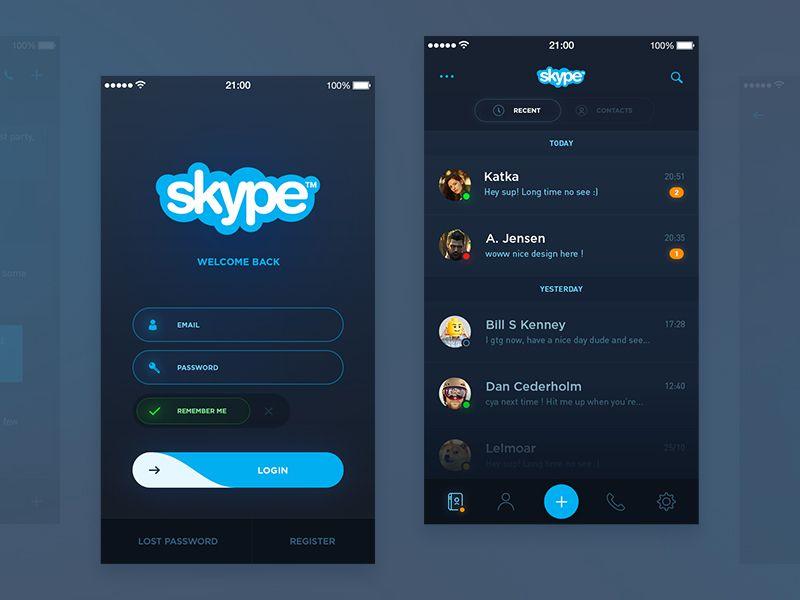 Skype Redesign (WIP) | Mobile App Designs (UI \ UX) | App ui design