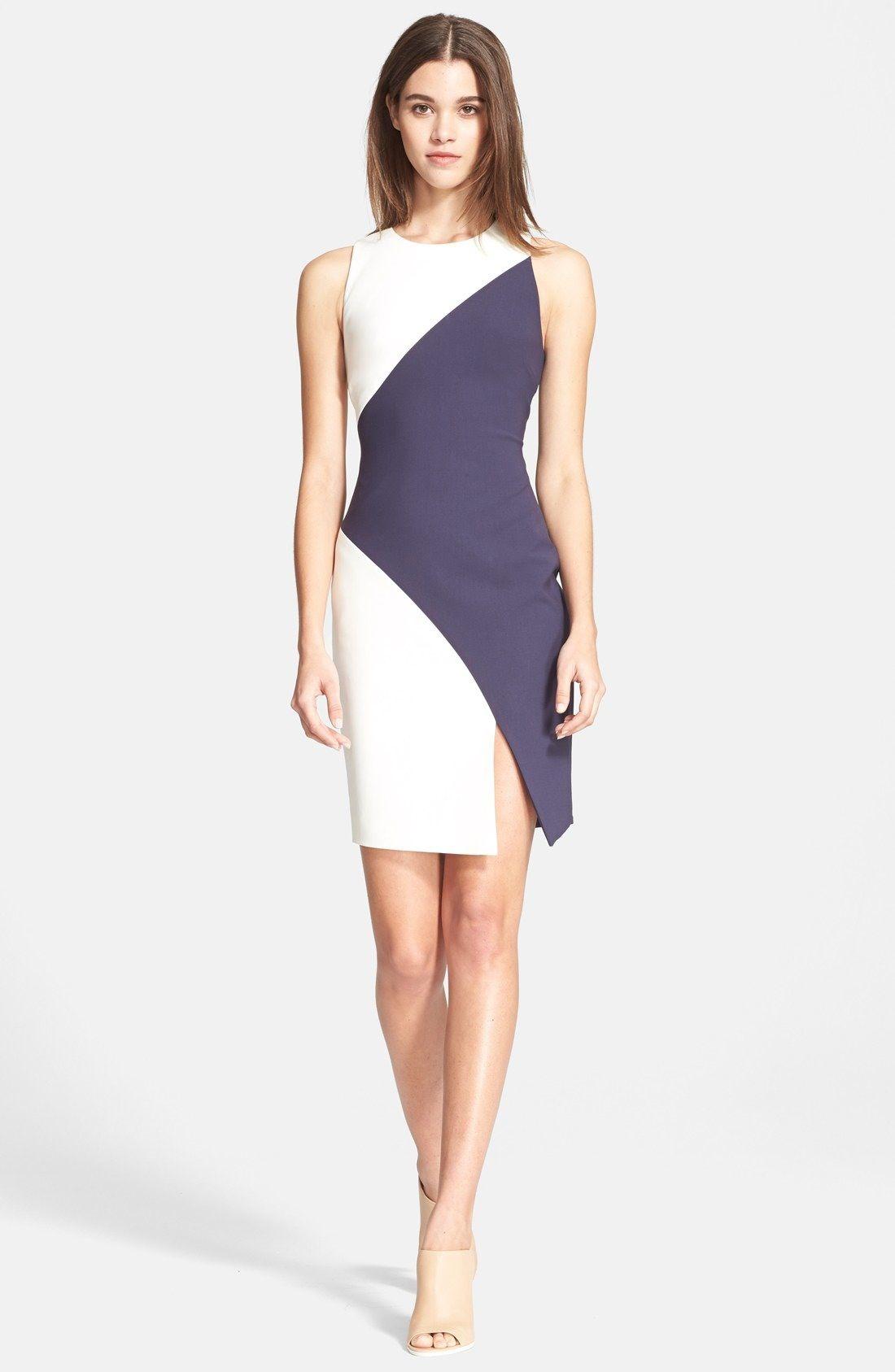 Lace dress midi march 2019 Elizabeth and James uKleinu Colorblock Stretch Knit Dress available