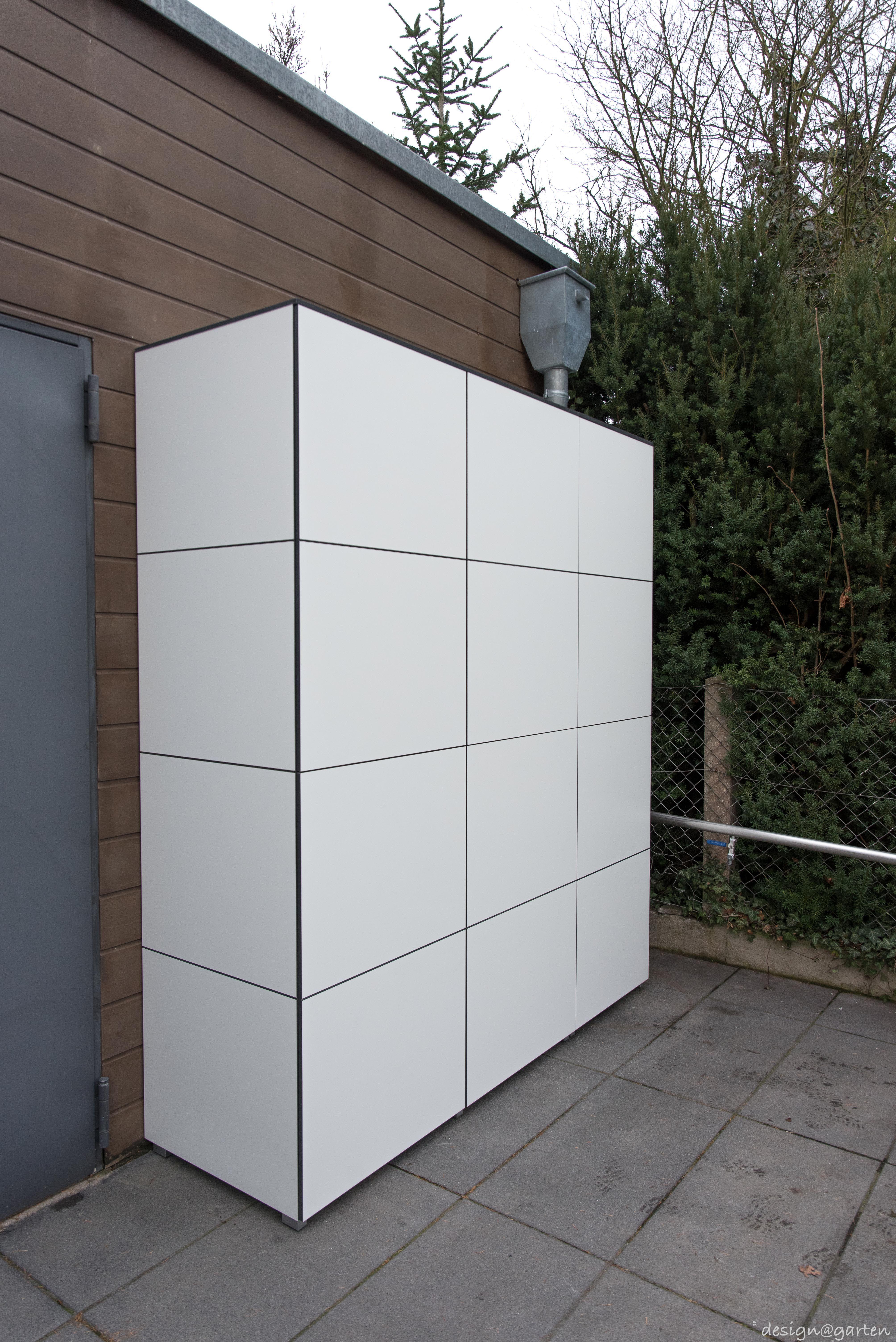 Grillschrank win by design garten augsburg germany terrassenschrank balk balkonschrank - Gartenhaus fassadenplatten ...