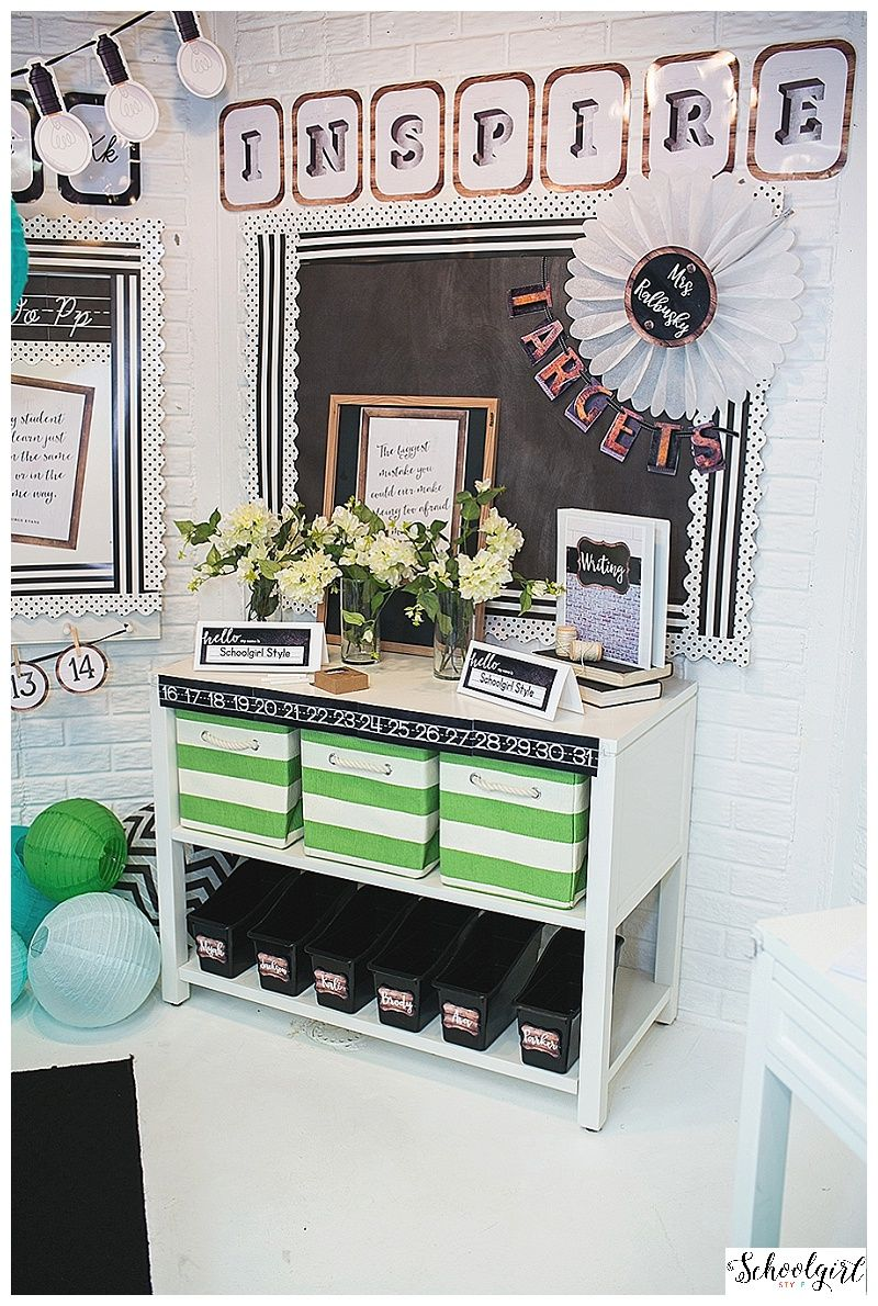 Classroom Design For Bulletin Board ~ Industrial chic by schoolgirl style fixer upper