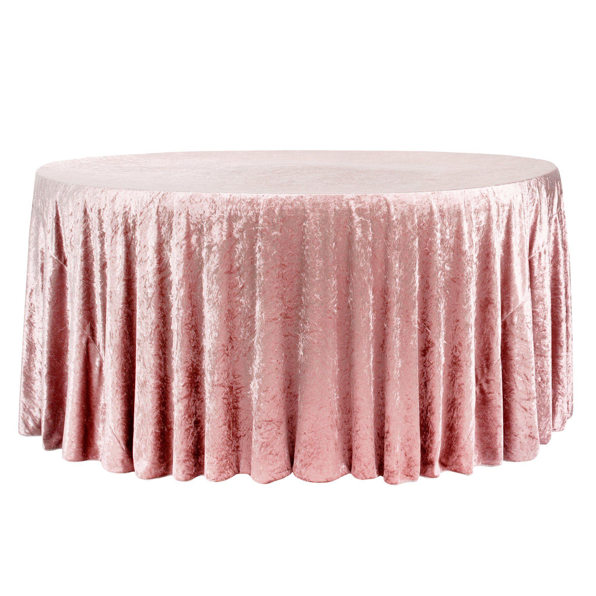 Velvet 132 Round Tablecloth Dusty Rose Mauve Cv Linens In 2020