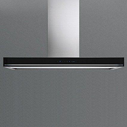 Falmec - Hotte à île Blade Finition verre Noir de 90 cm et puissance - hotte de cuisine  cm