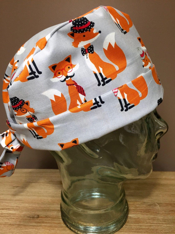 Veterinary scrub cap Ear saver Nurse Cap Scrub cap for woman Cat print scrub cap Kitten and cats Surgical Scrub cap with buttons
