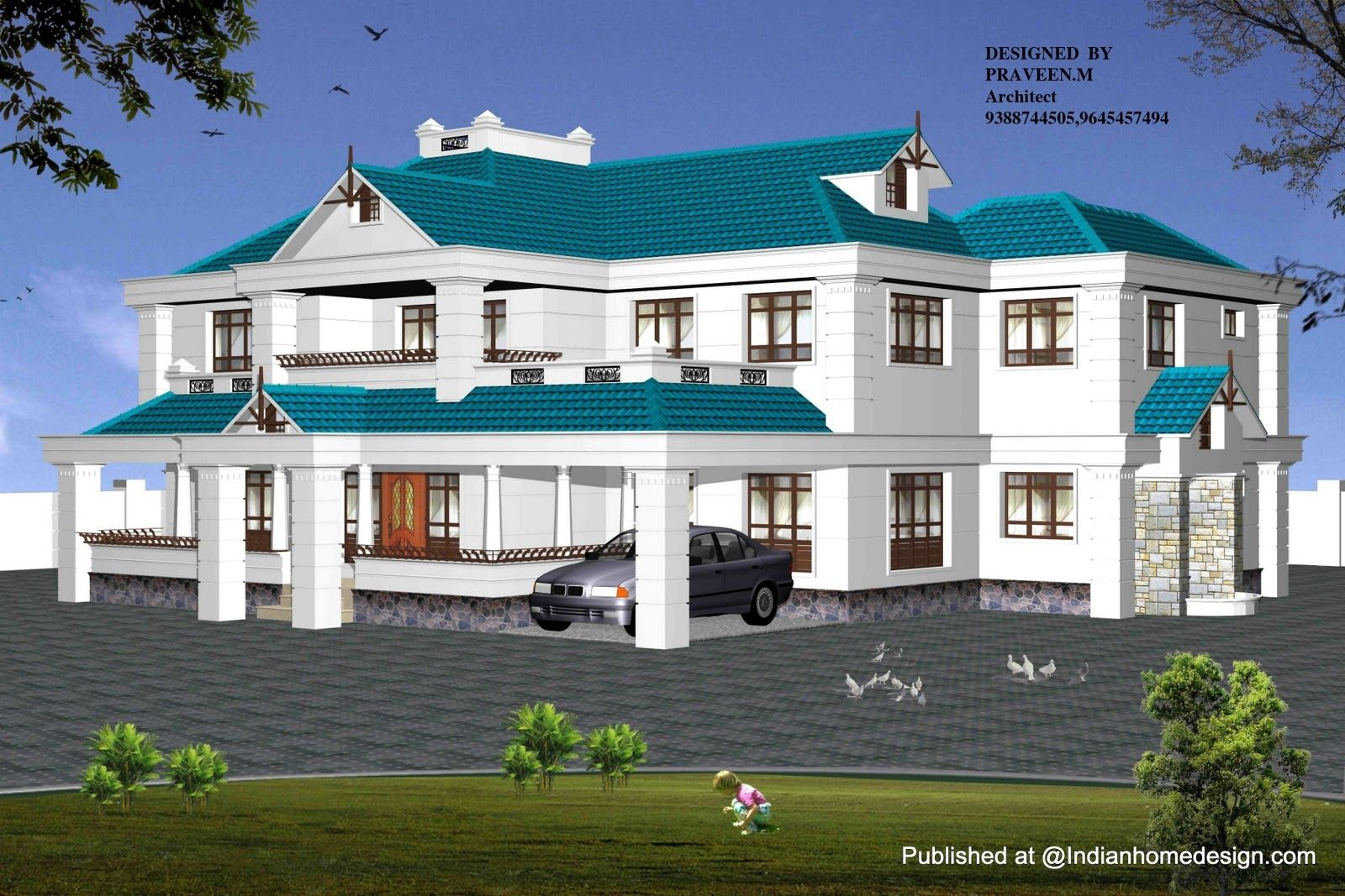 Cool duplex home design indian for Exterior house designs indian style