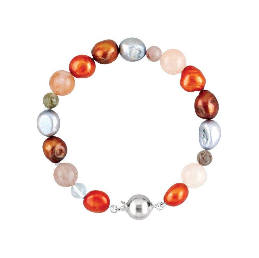 Bracelets.com - Multi-Gemstone Decorated Bracelet/Necklace - Sterling Silver