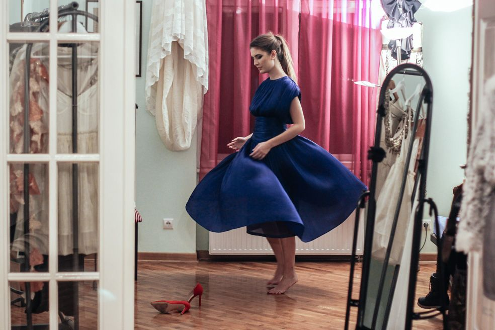 Blue Silk Dress | Fashion Bloggers And Style