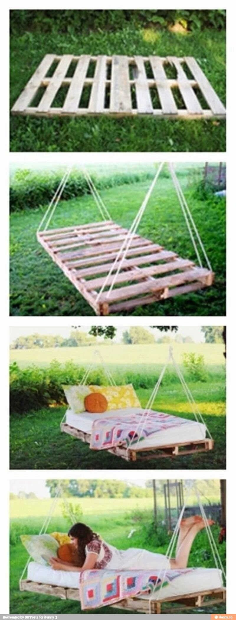 how to use old planks diy outdoor bed string lights pinterest garten ideen und garten ideen. Black Bedroom Furniture Sets. Home Design Ideas