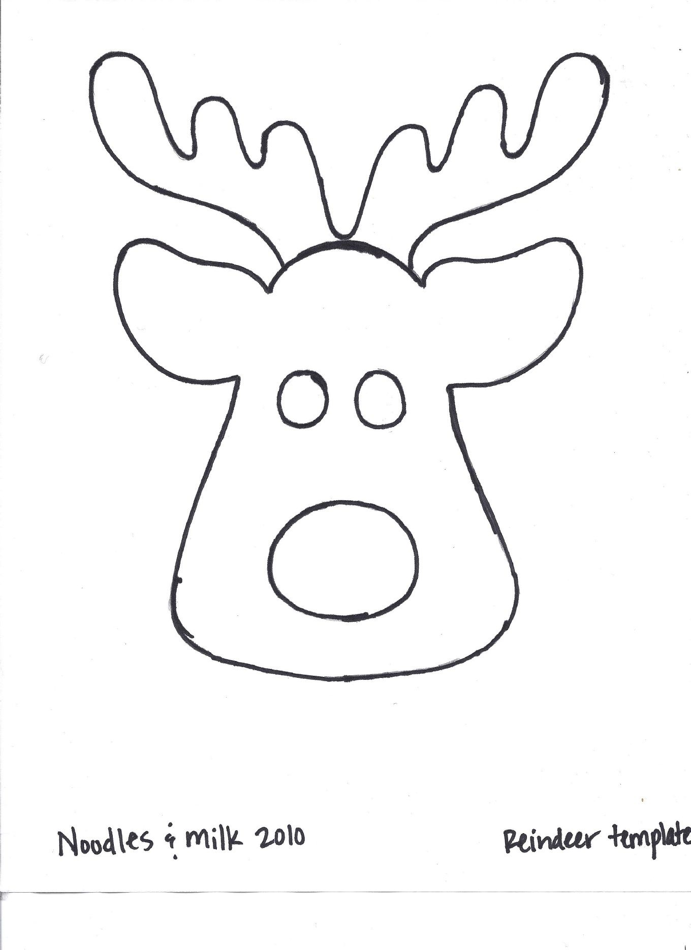 Clever image throughout printable reindeer template