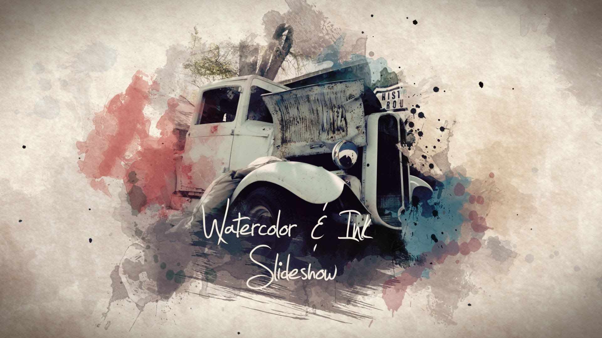 After effects template watercolor ink slideshow for Watercolor painting templates free