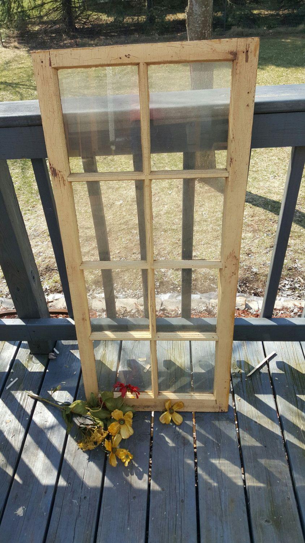 8 Pane Window Frame Vintage Old Weathered Window Frame 8 Pane Old Reclaimed Window