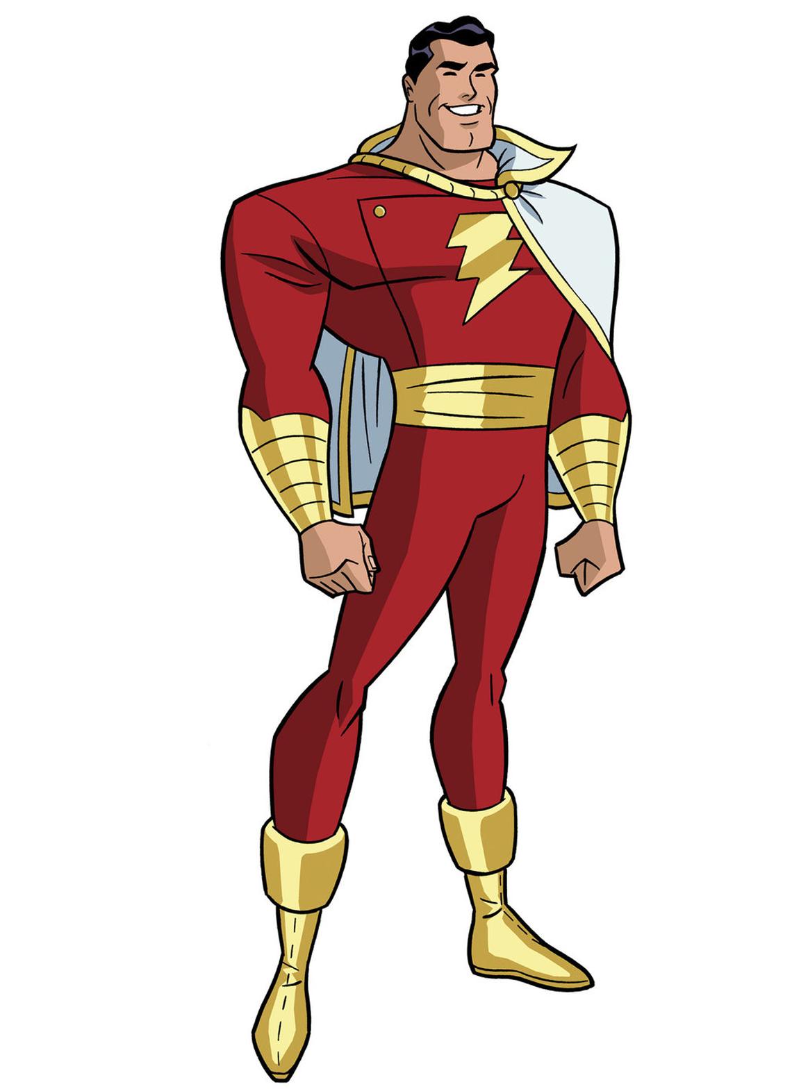 shazam justice league unlimited pinterest captain