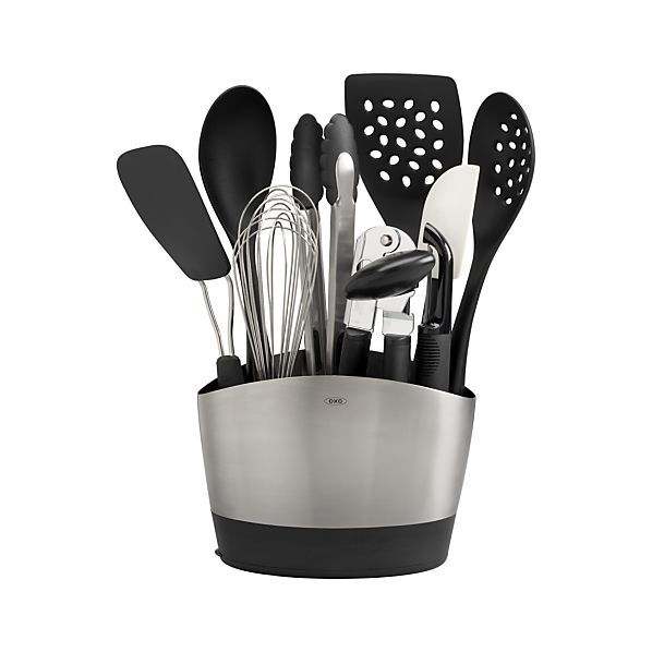oxo kitchen supplies design ideas for small kitchens 10 piece holder with tools set in 2018 things crate and barrel