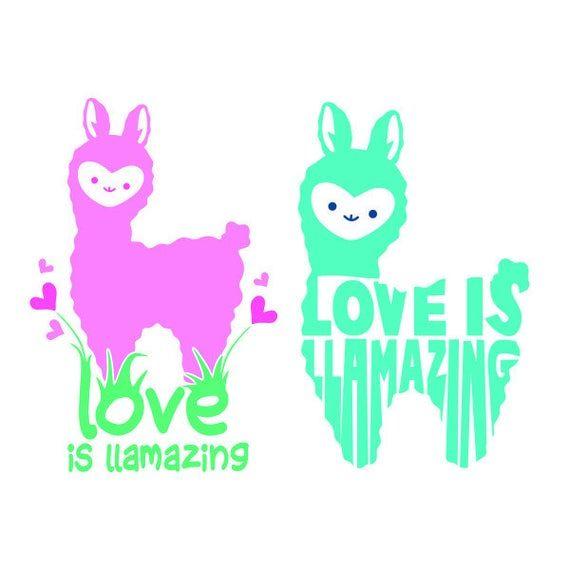 Download Heart Llama Alpaca Love is llamazing Valentines Day Love ...