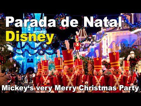 Parada de Natal Magic Kingdom Parque - Walt Disney World - YouTube
