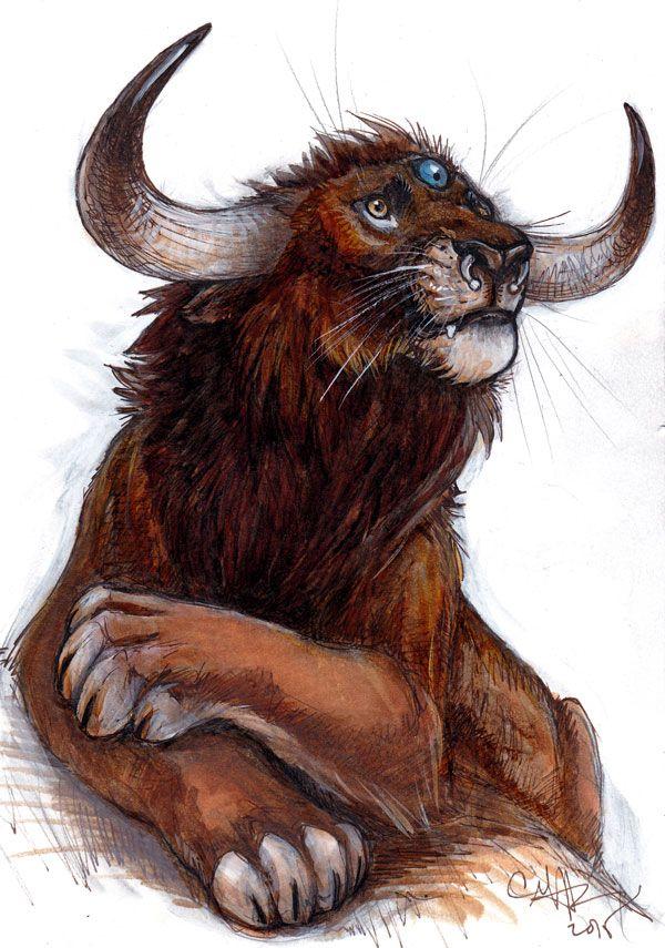 дизайнеры, лев с рогами картинка ещё есть