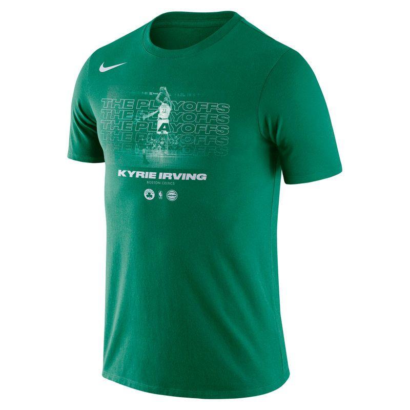 ca6f5be198fa Men s Nike Kyrie Irving Kelly Green Boston Celtics 2018 NBA Playoffs Player  T-Shirt