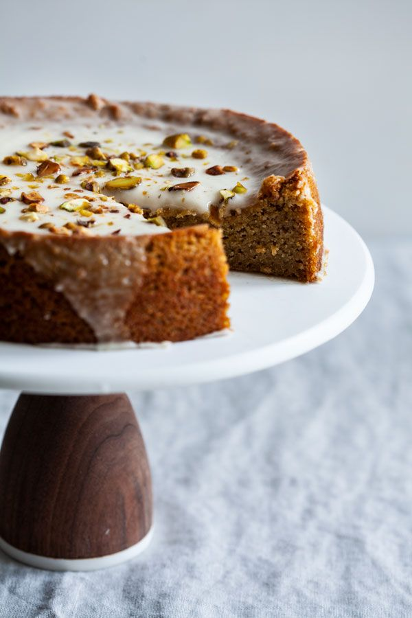 Grain Free Vegan Coconut Pistachio Lemon Cake