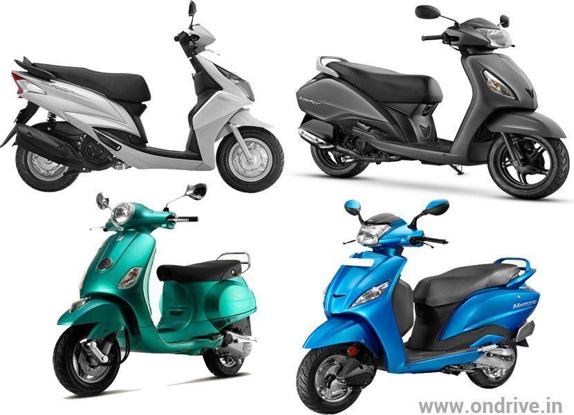 Hero Maestro Vs Honda Activa Vs Tvs Jupiter Vs Yamaha Ray Vs