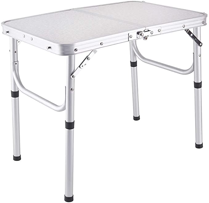 Amazon Com Yiren Lightweight Adjustable Portable Aluminum Camping Folding Table With Carry Handle Kitchen Folding Table Folding Camping Table Camping Table