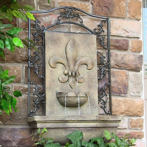 Outdoor indoor wall water fountain for garden yard decor or home decor water feature tabletop by