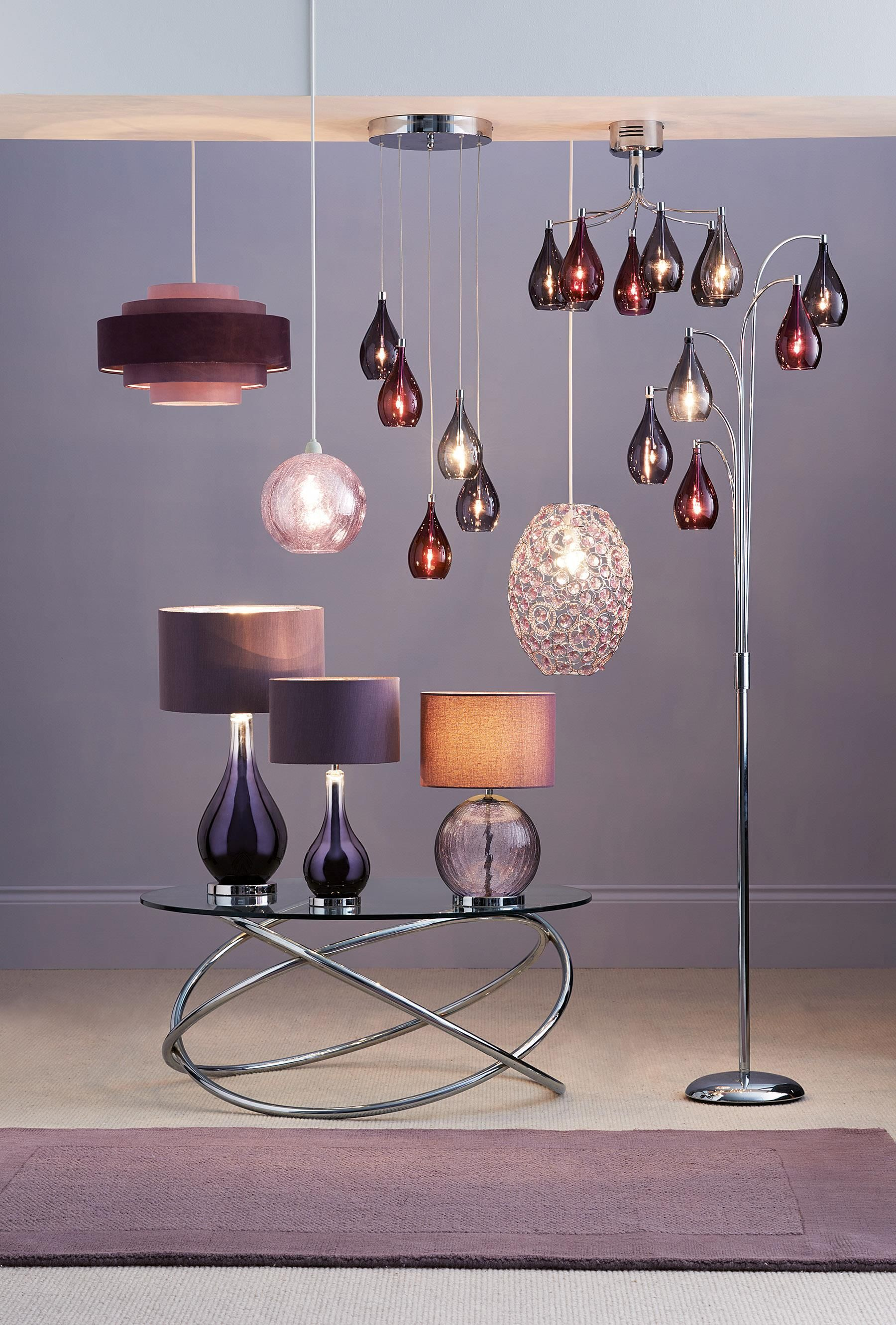 Buy Hanbury Plum Floor Lamp From The Next UK Online Shop Home - Bedroom light fittings uk