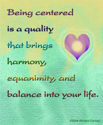 Being Centered Quotes
