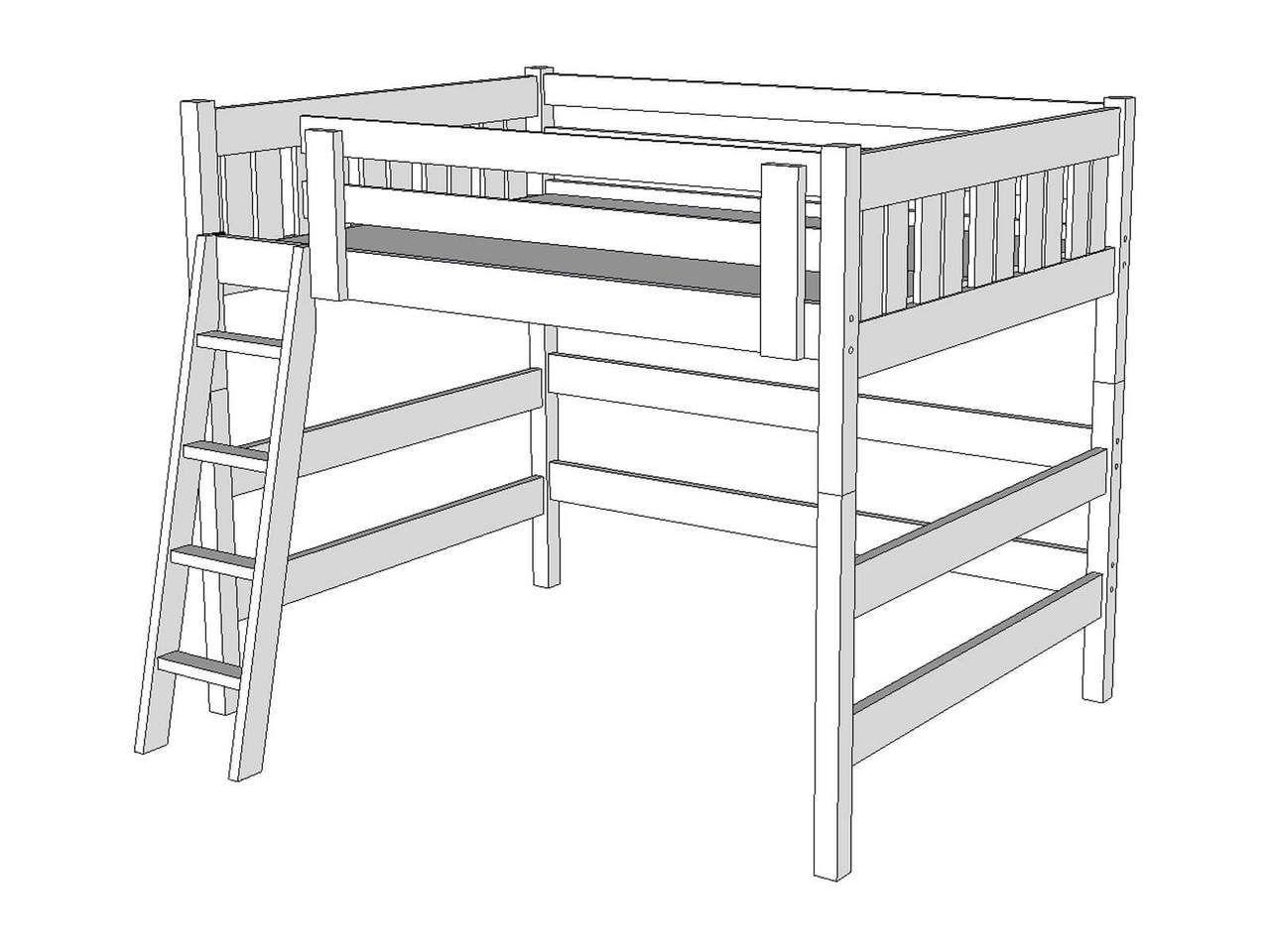 Loft bed with desk queen  L Queen Loft Bed  Windsor Style  Queen loft beds Lofts and