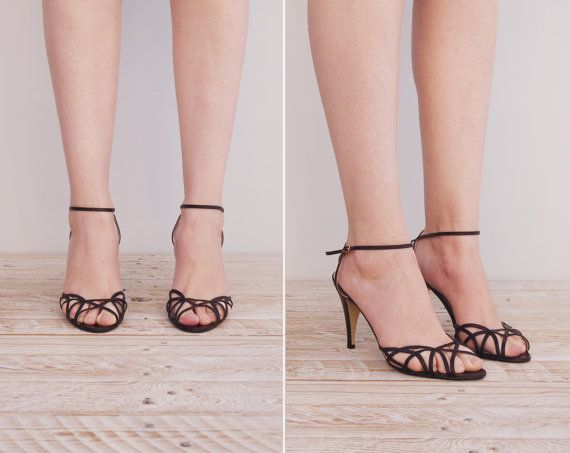 Bianca Sandals Vintage 1970s Ankle Strap by ...