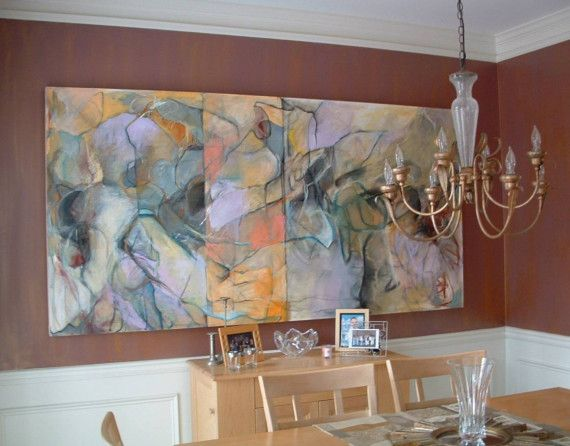 96d7569af0a0a Very Large Original Abstract Painting - Wall-sized Fine Art | Pastel ...