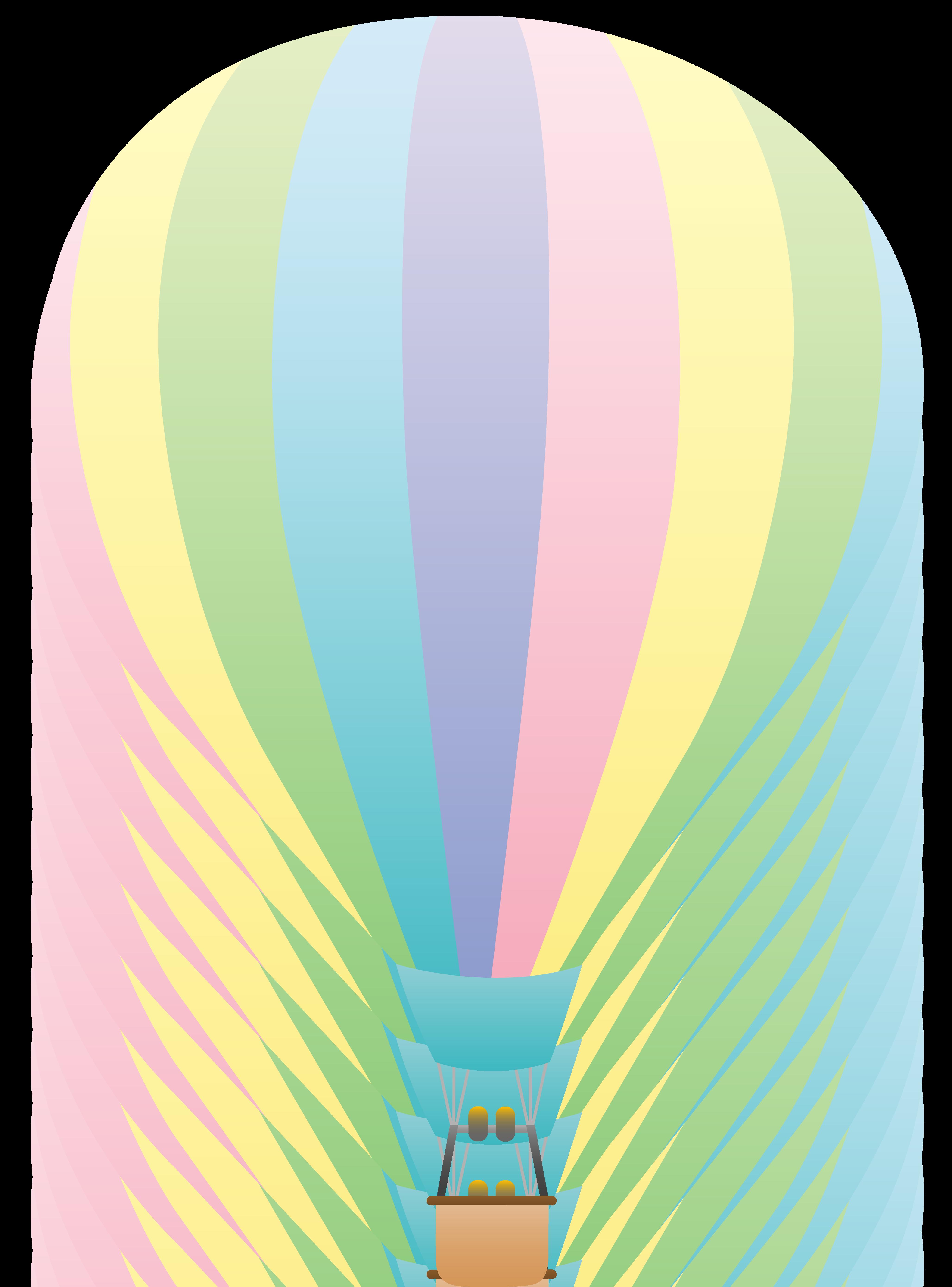 - Hot Air Balloon Clip Art Striped Pastel Colored Hot Air Balloon