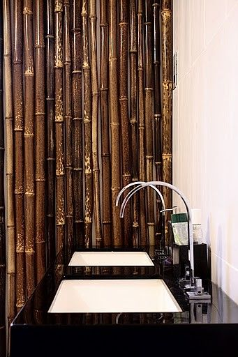 Black Bamboo Is Perfect For This Bathroom Screen We Sell This