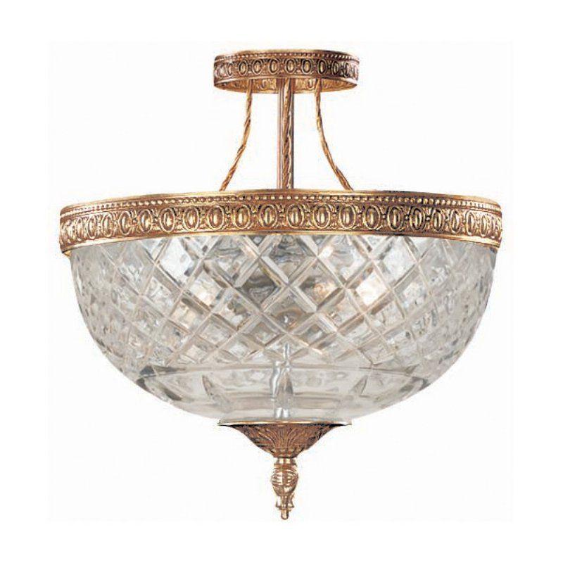 Crystorama 118-8 Richmond Ceiling Light - 8W in. Olde Brass - 118-8-OB