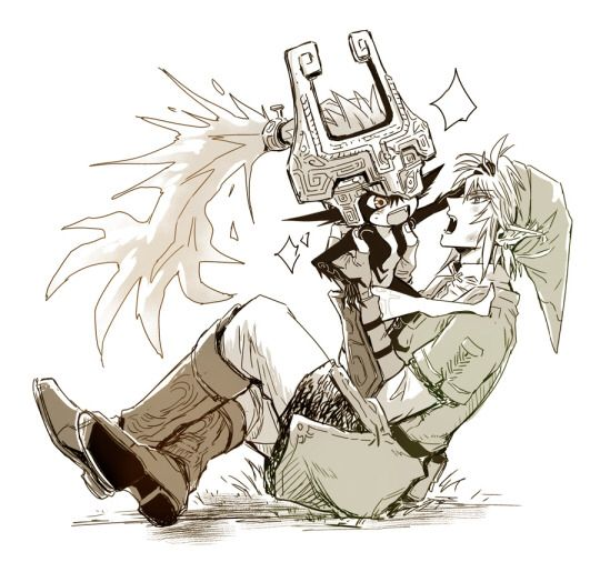 Link and midna: I think this pretty much sums up their relationship