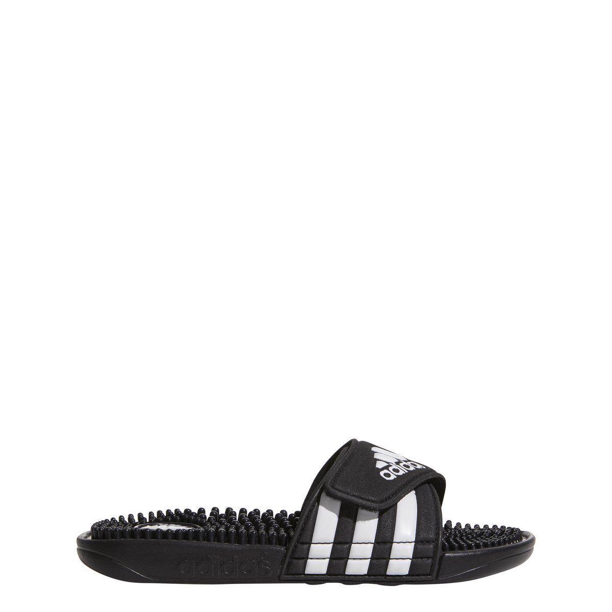 Kids Adidas Adissage Slides Sandal 078285 Color Black// Black Running White New