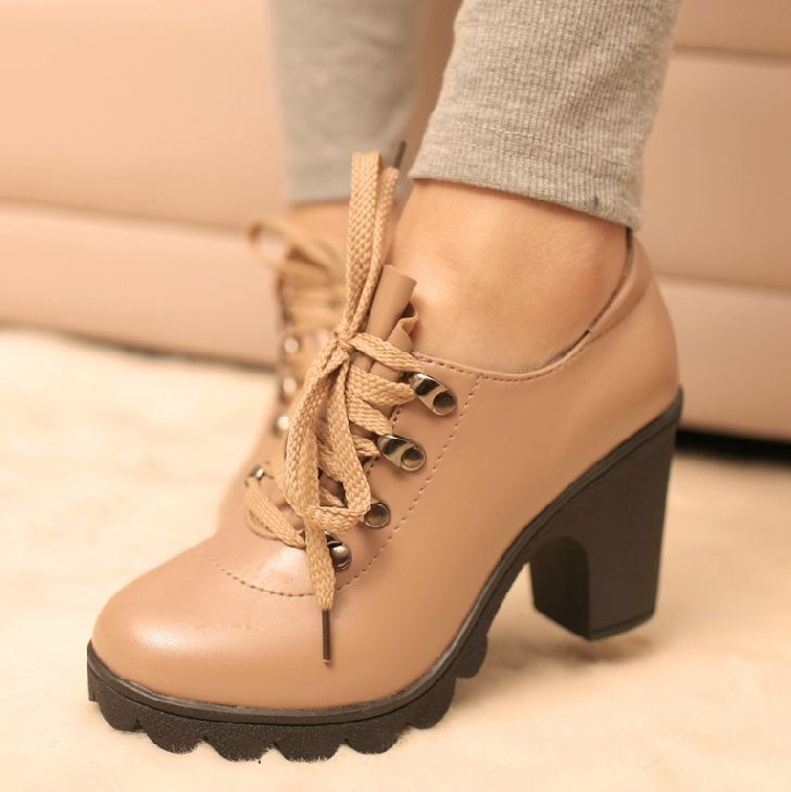 Vintage thick heel autumn high-heeled Boots 2013 fashion platform thick heel single shoes women's shoes Free Shipping $19.99