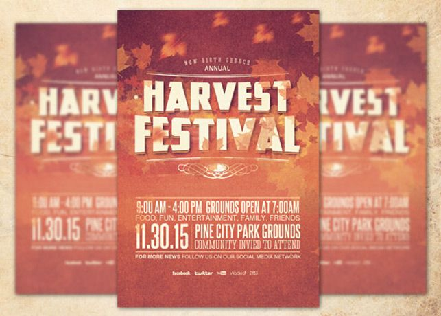 Harvest Festival Church Flyer Template Can Be Used For Your Church